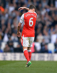 Laurent Koscielny of Arsenal looks dejected at the end of the game.English Premier League match at the White Hart Lane Stadium, London. Picture date: April 30th, 2017.Pic credit should read: Robin Parker/Sportimage