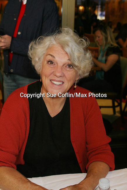 """General Hospital Tyne Daly """"Caroline Beale"""" at The 26th Annual Broadway Flea Market and Grand Auction to benefit Broadway Cares/Equity Fights Aids on September 23, 2012 in Shubert Alley and Times Square, New York City, New York.  (Photo by Sue Coflin/Max Photos)"""
