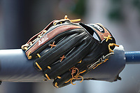 Baseball glove on April 26, 2017 at Fifth Third Ballpark in Comstock Park, Michigan. West Michigan defeated Fort Wayne 8-2. (Andrew Woolley/Four Seam Images)