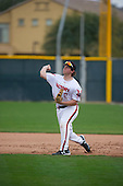 Jacob Thompson (17) of Trinity Prep High School in Charlotte, North Carolina during the Under Armour All-American Pre-Season Tournament presented by Baseball Factory on January 15, 2017 at Sloan Park in Mesa, Arizona.  (Zac Lucy/Mike Janes Photography)