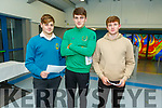 Mercy Mounthawk students Sean Fitzgibbons, Joe Hanafin and Colin Fitzgibbon at the Mercy Mounthawk Careers evening in the school on Thursday.
