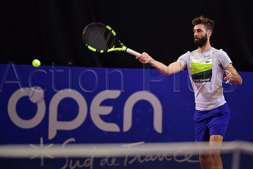 February 6th 2017, Montpellier, France; Open Sud de France tennis tournament;  Benoit Paire (Fra)
