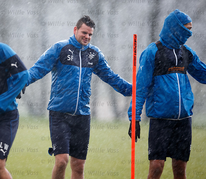 "Sebastian Faure says ""Bring it ON"" as the silky Frenchman gets soaked by freezing rain at Murray Park"