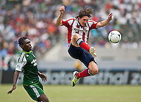 CARSON, California - July 18, 2012: The CD Chivas USA defeated the Portland Timbers 1-0 during a Major League Soccer (MLS) game at Home Depot Center stadium.