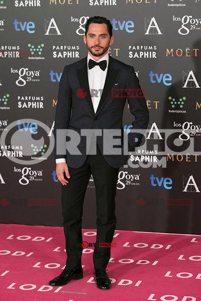Paco Leon attend the 2015 Goya Awards at Auditorium Hotel, Madrid,  Spain. February 07, 2015.(ALTERPHOTOS/)Carlos Dafonte) /NORTEphoto.com