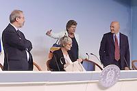 Roma, 7 Ottobre 2014<br /> Palzzo Chigi <br /> Conferenza stampa delle e dei leader sindacali al termine dell'incontro col Governo sul jobs act.<br /> Carmelo Barbagallo, Luigi Angeletti, Annamaria Furlan,Susanna Camusso.<br /> Rome, October 7, 2014 <br /> Palzzo Chigi <br /> Press conference of union's leader after the<br /> meeting with the Prime Minister  on jobs act