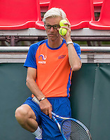Moscow, Russia, 13 th July, 2016, Tennis,  Davis Cup Russia-Netherlands, Training Dutch team, coach Martin Bohm (NED)<br /> Photo: Henk Koster/tennisimages.com