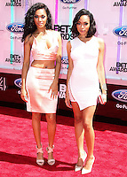 LOS ANGELES, CA, USA - JUNE 29: Shayne Murphy and Bria Murphy arrive at the 2014 BET Awards held at Nokia Theatre L.A. Live on June 29, 2014 in Los Angeles, California, United States. (Photo by Xavier Collin/Celebrity Monitor)