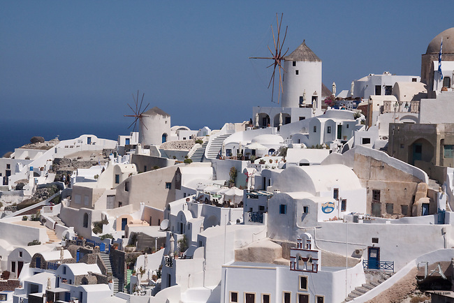 The famous windmills of Oia.  Such an ancient technology that is getting headlines all over the world now.