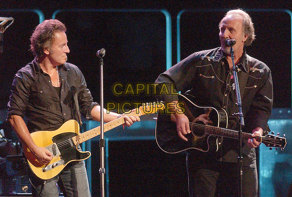 14 November 2007 - Pittsburgh, Pennsylvania - Bruce Springsteen and Pittsburgh native Joe Grushecky. Bruce Springsteen and The E Street Band Magic Tour make a stop at Mellon Arena. Photo Credit: Jason L. Nelson/AdMedia.
