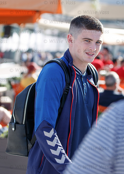22.06.2019 Rangers arrive in Portugal: Jake Hastie