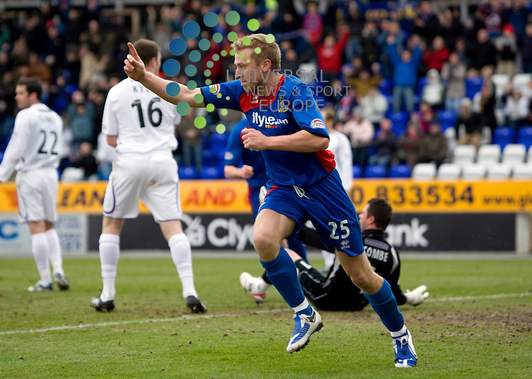 FOOTBALL.Scottish Premier League.Inverness CT v Kilmarnock.Pictured is .Inverness player Richie Foran celebrates after opening the scoring
