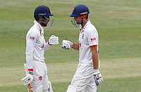 Feroze Khushu (left) and Sir Alastair Cook (right) of Essex touch gloves during in-between overs during Essex CCC vs Kent CCC, Bob Willis Trophy Cricket at The Cloudfm County Ground on 4th August 2020