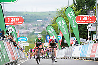 Picture by Allan McKenzie/SWpix.com - 15/05/2018 - Cycling - OVO Energy Tour Series Womens Race - Round 2:Motherwell - Megan Barker follow Beth Crumpton up the finishing straight.