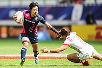 Chiharu Nakamura of Japan  during the women's HSBC Paris Sevens match between Japan and United States, Rugby Sevens World Series at Stade Jean Bouin on June 8, 2018 in Paris, France. (Photo by Sandra Ruhaut/Icon Sport)