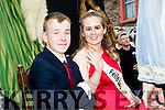 Law student to be, Katelin O'Dowd, from Cloghane village was this years Feile Lughnasa festival Queen seen here with her escort Tadgh Kerin in their float during the parade through the village of Cloghane last Sunday evening.