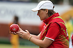 Glasgow 2014 Commonwealth Games<br /> <br /> Anwen Butten  (Wales) competing in the lawn bowls women's pairs.<br /> <br /> 30.07.14<br /> &copy;Steve Pope-SPORTINGWALES