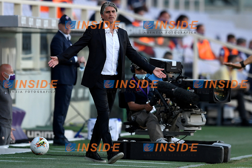 Diego Lopez coach of Brescia reacts during the Serie A football match between ACF Fiorentina and Brescia Calcio at Artemio Franchi stadium in Florence ( Italy ), June 22th, 2020. Play resumes behind closed doors following the outbreak of the coronavirus disease. <br /> Photo Antonietta Baldassarre / Insidefoto