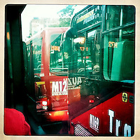 BOGOTA-COLOMBIA. El Transmilenio es el transporte principal de la capital colombiana. Estas son unas fotografías en las que se muestra otro punto de vista del tan polémico medio de transporte. The Transmilenio is the principal means of transport  in the capital city of Colombia. This are some pictures that shows the polemical way of transport. Photo: Vizzorimage
