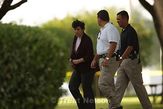 Eldorado - at the Schleicher County Courthouse Wednesday, June 25, 2008, where a grand jury met to hear evidence of possible crimes involving FLDS church members from the YFZ ranch. Natalie Malonis