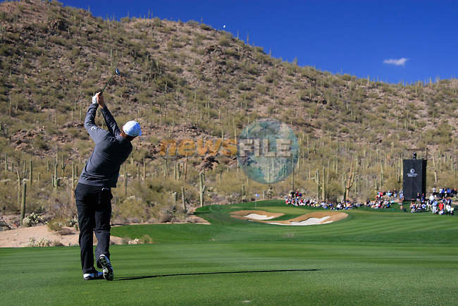Justin Rose (ENG) in action on the 14th hole during Day 2 of the Accenture Match Play Championship from The Ritz-Carlton Golf Club, Dove Mountain, Thursday 24th February 2011. (Photo Eoin Clarke/golffile.ie)