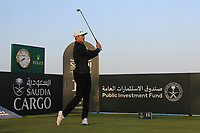 Haotong Li (CHN) at the 16th tee during the Preview of the Saudi International at the Royal Greens Golf and Country Club, King Abdullah Economic City, Saudi Arabia. 29/01/2020<br /> Picture: Golffile | Thos Caffrey<br /> <br /> <br /> All photo usage must carry mandatory copyright credit (© Golffile | Thos Caffrey)