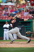 Great Lakes Loons outfielder Federico Celli (25) at bat during a game against the Kane County Cougars on August 13, 2015 at Fifth Third Bank Ballpark in Geneva, Illinois.  Great Lakes defeated Kane County 7-3.  (Mike Janes/Four Seam Images)