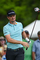 Justin Rose (GBR) watches his tee shot on 3 during round 2 of the 2019 Charles Schwab Challenge, Colonial Country Club, Ft. Worth, Texas,  USA. 5/24/2019.<br /> Picture: Golffile   Ken Murray<br /> <br /> All photo usage must carry mandatory copyright credit (© Golffile   Ken Murray)