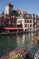 Europe/France/Rhône-Alpes/74/Haute-Savoie/Annecy: Vieilles maisons sur le Thiou et le Château