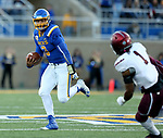 BROOKINGS, SD - OCTOBER 7: Taryn Christion #3 from South Dakota State University looks for running room past Craig James #1 from Southern Illinois in the first half of their game Saturday night at Dana J. Dykhouse Stadium in Brookings. (Photo by Dave Eggen/Inertia)