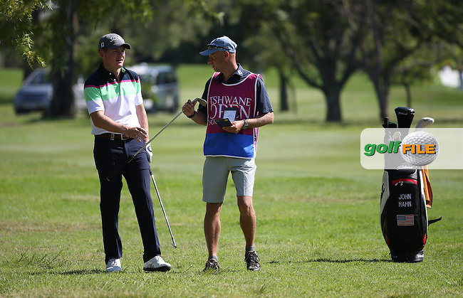 John Hahn (USA) enjoying the craic during Round One of the 2016 Tshwane Open, played at the Pretoria Country Club, Waterkloof, Pretoria, South Africa.  11/02/2016. Picture: Golffile | David Lloyd<br /> <br /> All photos usage must carry mandatory copyright credit (&copy; Golffile | David Lloyd)