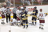 Brett Motherwell, Cory Schneider, Joe Rooney, Tim Kunes, Derek Pallardy, Matt Byrnes, Benn Ferreiro - Boston College defeated Merrimack College 3-0 with Tim Filangieri's first two collegiate goals on November 26, 2005 at Kelley Rink/Conte Forum in Chestnut Hill, MA.