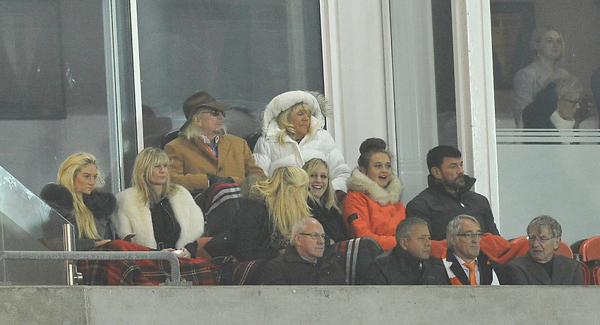 Blackpool owner Owen Oyston watches the game <br /> <br /> Photographer Dave Howarth/CameraSport<br /> <br /> Football - The Football League Sky Bet Championship - Blackpool v Derby County - Tuesday 21st October 2014 - Bloomfield Road - Blackpool<br /> <br /> &copy; CameraSport - 43 Linden Ave. Countesthorpe. Leicester. England. LE8 5PG - Tel: +44 (0) 116 277 4147 - admin@camerasport.com - www.camerasport.com