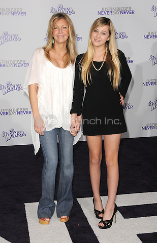 "Heather Locklear and Ava Sambora at the Los Angeles premiere of ""Justin Bieber: Never Say Never""  at Nokia Theater at L.A. Live in Los Angeles, CA, USA.February 8, 2011 © mpi11 / MediaPunch Inc."