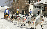 Blake Frekking in Anchorage on Saturday March 1st during the ceremonial start day of the 2008 Iidtarod Sled Dog Race.
