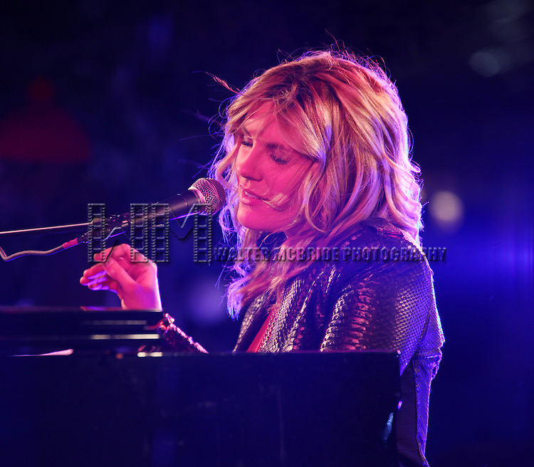 Grace Potter attending the Holiday Tree Lighting Ceremony at Bryant Park's Citi Pond in New York City. November 27, 2012.