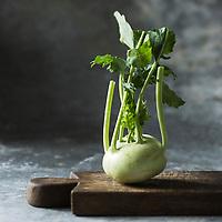 Gastronomie générale/ Chou-Rave - Stylisme : Valérie LHOMME // Gastronomy/ Kohlrabi or German turnip