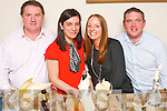 Party for 4.-----------.L-R Gerard&Leona Lynch(Gortacla)with Ann&Brian O'Driscoll(Tralee)celebrated with Leona for her birthday last saturday night in Bella Bia,Tralee.