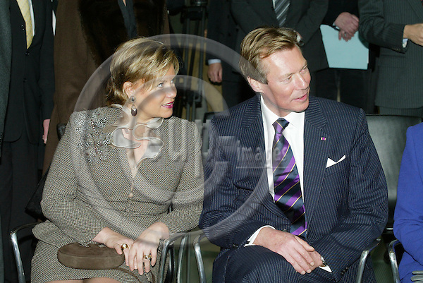 BRUSSELS - BELGIUM - 17 NOVEMBER 2005 --  The Grand Duke and the Dutchess of Luxemburg.  PHOTO: ERIK LUNTANG / EUP-IMAGES..