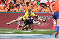 Day two of the 2019 HSBC World Sevens Series Hamilton  at FMG Stadium in Hamilton, New Zealand on Sunday, 27 January 2018. Photo: Jackson Meecham / lintottphoto.co.nz