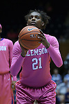 08 February 2015: Clemson's Nikki Dixon. The Duke University Blue Devils hosted the Clemson University Tigers at Cameron Indoor Stadium in Durham, North Carolina in a 2014-15 NCAA Division I Women's Basketball game. Duke won the game 89-60.