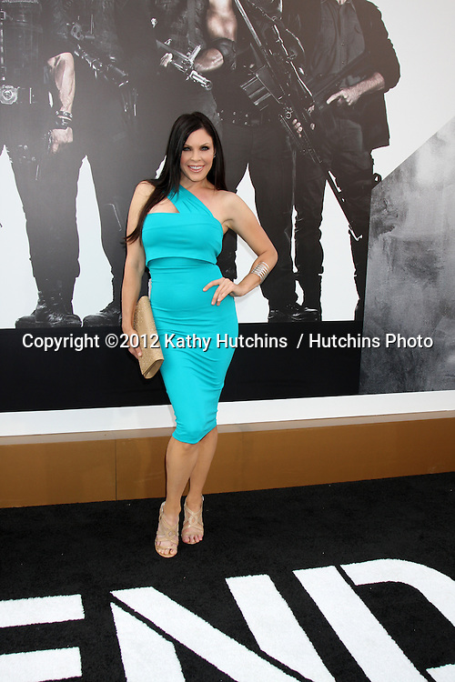 """Los Angeles - AUG 15:  Christa Campbell arrives at the """"The Expendables 2""""  Premiere at Graumans Chinese Theater on August 15, 2012 in Los Angeles, CA"""
