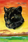 Interlitho, Luis, FANTASY, paintings, panther's head, KL, KL3503,#fantasy# illustrations, pinturas