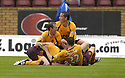 18/08/2007       Copyright Pic: James Stewart.File Name : sct_jspa05_motherwell_v_kilmarnock.DAVID CLARKSON CELEBRATES AFTER HE SCORES MOTHERWELL'S FIRST....James Stewart Photo Agency 19 Carronlea Drive, Falkirk. FK2 8DN      Vat Reg No. 607 6932 25.Office     : +44 (0)1324 570906     .Mobile   : +44 (0)7721 416997.Fax         : +44 (0)1324 570906.E-mail  :  jim@jspa.co.uk.If you require further information then contact Jim Stewart on any of the numbers above........