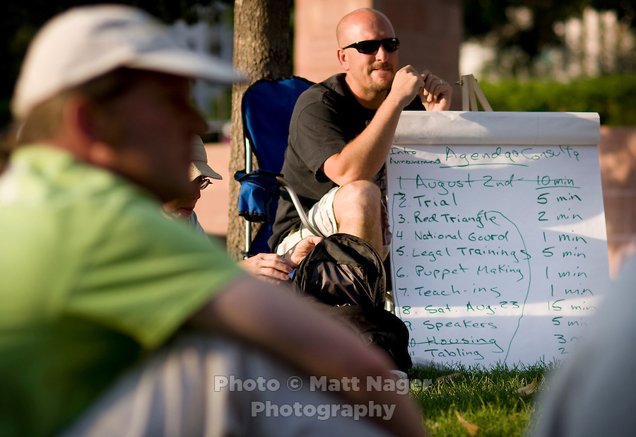Members of Recreate 68 hold a meeting in Denver, Colorado, Monday, July 31, 2008...PHOTOS/ Matt Nager