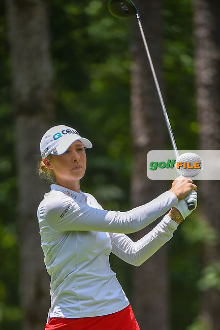 Nelly Korda (USA) watches her tee shot on 2 during round 1 of the U.S. Women's Open Championship, Shoal Creek Country Club, at Birmingham, Alabama, USA. 5/31/2018.<br /> Picture: Golffile | Ken Murray<br /> <br /> All photo usage must carry mandatory copyright credit (© Golffile | Ken Murray)