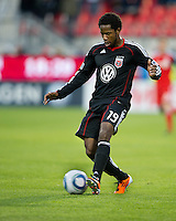 16 April 2011: D.C. United midfielder Clyde Simms #19 in action during an MLS game between D.C. United and the Toronto FC at BMO Field in Toronto, Ontario Canada..D.C. United won 3-0.
