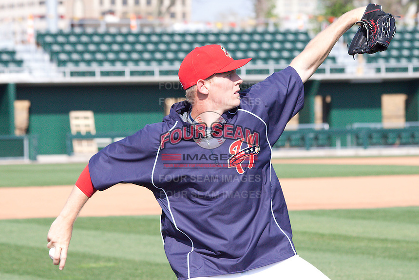 4-6-2010:  Pitcher Stephen Strasburg #37 of the Harrisburg Senators during practice at Metro Bank Park in Harrisburg Pa.  Photo By Will Bentzel/Four Seam Images