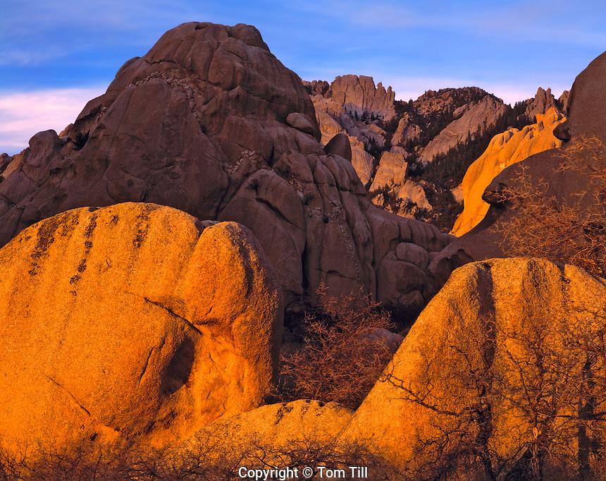 Granite Forms in Spring Evening Light, Proposed Granite Peak Wilderness, Utah