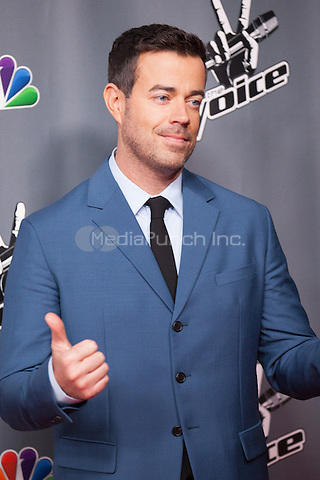 "UNIVERSAL CITY, CA - NOVEMBER 07: Host Carson Daly at NBC's ""The Voice"" Season 5 Top 12 in Universal City Plaza, on November 7th, 2013 in Universal City, California Photo Credt: RTNRossi / MediaPunch Inc."